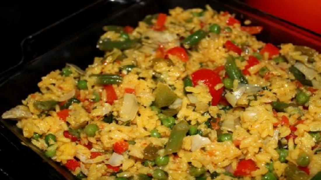 рецепт паэльи вегетарианской