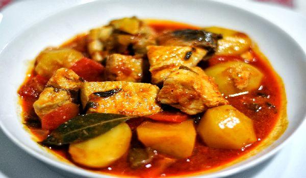 Картофельный соус с тунцом — Marmitako