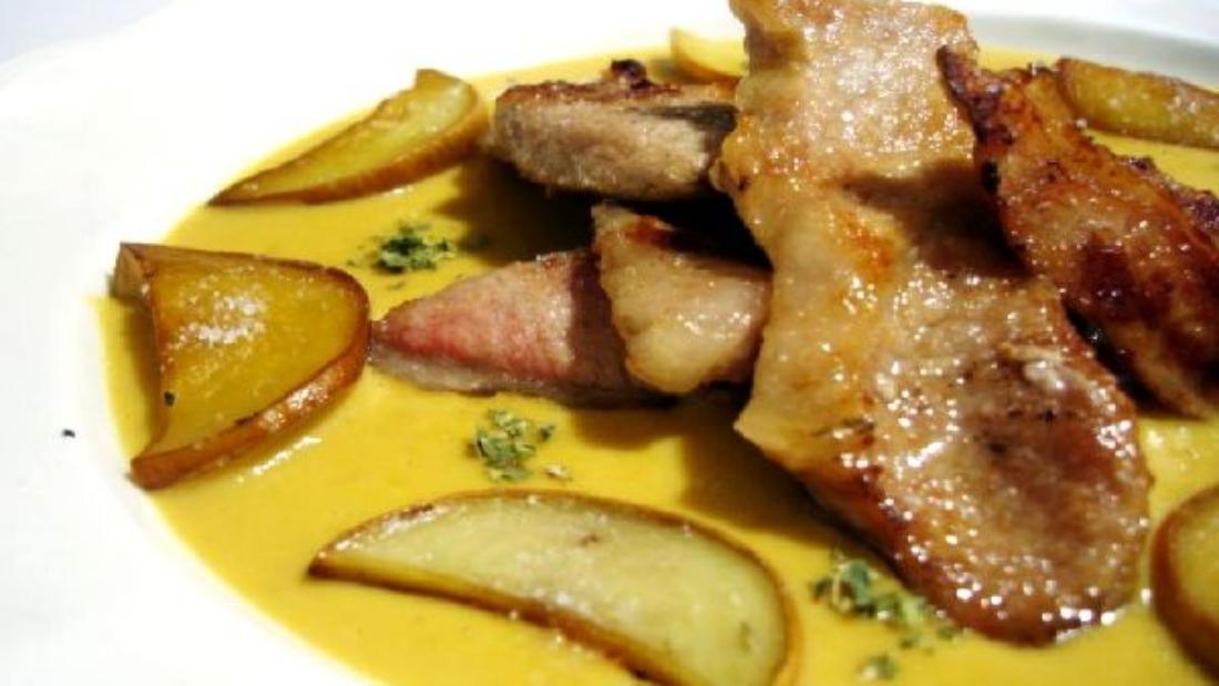 свинина под пиренейским соусом